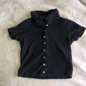 Brandy Melville (John Galt) Black button up.